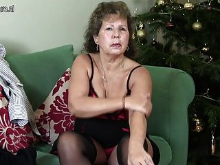 Mature British Housewife Being Naughty On Her Couch