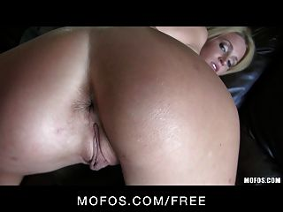 Mofos - Sexy Tattooed Blond Trixie Star Filmed First Anal