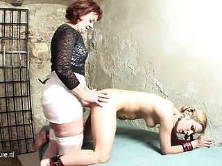 Horny Mature Mistress With Her Teeny Sex Slave