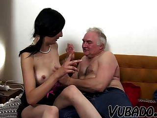 Older men sex on couch vieos