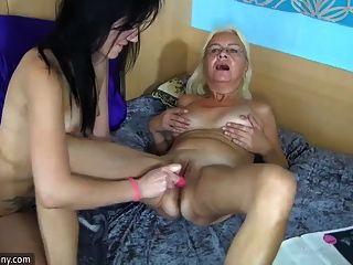 Girls Using Dilldo
