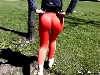 Huge Perfect Cameltoe With Thong Inside Pussy At The Park.