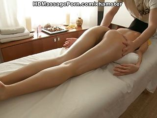 Young Asian Has Massage With Plenty Of Oil And Moans