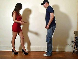 Ballbusting - Red Dress Babe