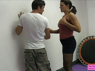 Earn A Blowjob From A Dom Ballbusting