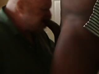 Fat Toothless Man Gums Black Cock