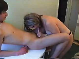 Mature Mom And Not Her Son In Kitchen