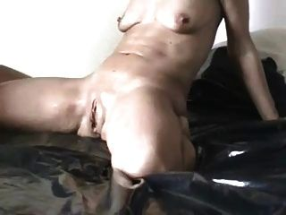 Squirting Girl With Small Saggy Tits