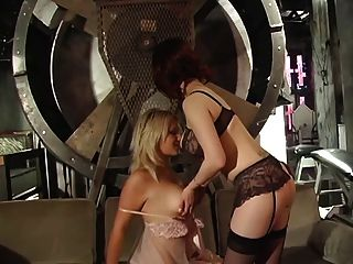Voluptuous Blonde Gets Her Nipples And Wet Pussy Punished By Two Hot Masters