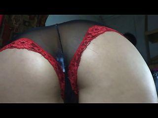 Anal Creampie Through Panties.