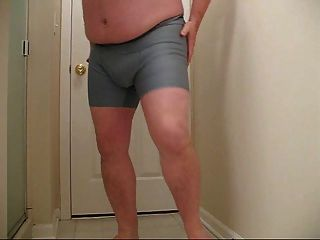 Chubby Guy Strips After A Long Day At Work