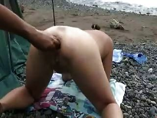 Japanese Extreme Ew Deep Anal Fisting On The Beach