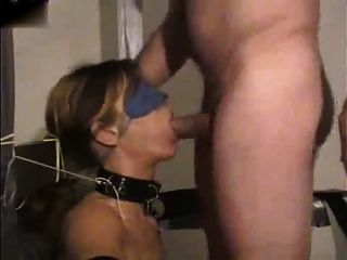 Tied Up, Blindfolded And Fucked In The Mouth