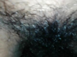 Close-up Of A Chubby Mature Hairy Indian Pussy Riding
