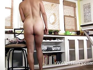 Serai Undresses To Show Off Her Sexy Hairy Body
