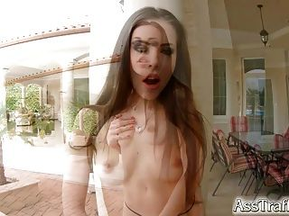 Ass Traffic Brunette Gets Her Tight Ass Pounded Hard