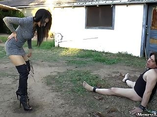 Femdom Yardwaste Humiliation From Mistress Tangent