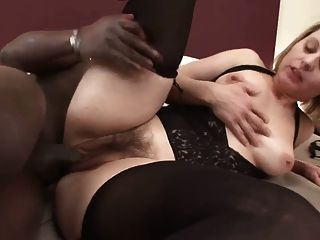 Nice Hairy Woman  With Black Cock