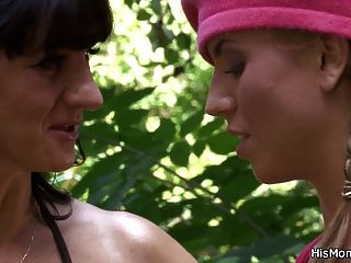 Busty Mom And Teen Lesbian Best Friends Now