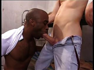 Cute Hung Skinhead Prisoner Fucks Black Cell Mate