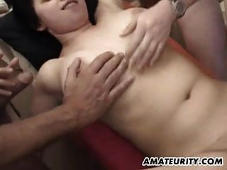 Busty Amateur Teen Girlfriend Homemade Gangbang With Bukkake