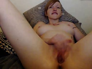 Red Pussy Lips On Girl With Anal Toy And Fingering
