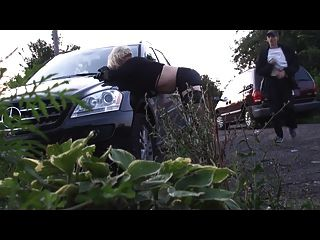 Amateur Cd Crossdresser Sissy Slut Fucking Outdoor