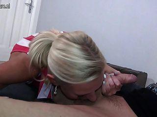 Super Hot German Mom Dirty Tina Fucking A Boy