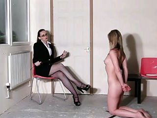 Mistress Dominating Her Slave Girl