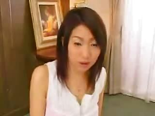 Chinese Girl See A Cock Cum In Her Hands