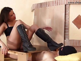 Trampling On Cock And Balls In Boots - Ballbusting And Crush