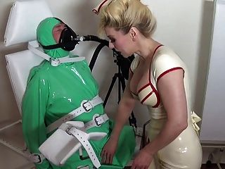 Rubber Latex Breath Control With Rubber Mistress Madame C