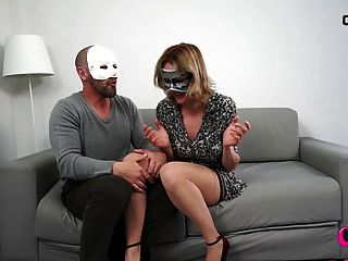 Milf Plays With Her Husband And Big Dildos