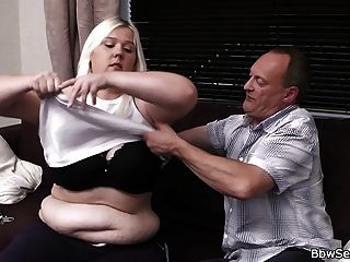 Boss Fucks Cute Blonde Plumper