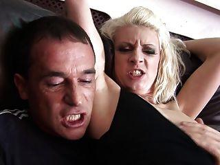 Superb Bimbo Orgasms Whuile The Jumbo Banana Ravishes Her Twat