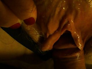 Close Up Cock And My Wet Hairy Pussy