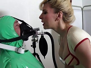 Rubber Bondage Breath Control With Rubber Mistress Madame C