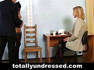 Elegant Young Lady At Shocking Nude Job Interview
