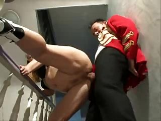 Hot German Mature Fucked On The Stairs