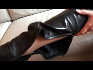 Julie Skyhigh: My New Thigh High Boots Fitting (bootfetish)