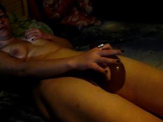 Lili Masturbates With A Big Long Dildo