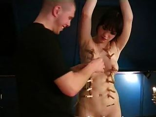 Amateur Slavegirl Tied Up, Tortured And Sex