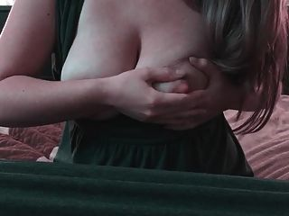 Christine - Playing With Milk Boobs