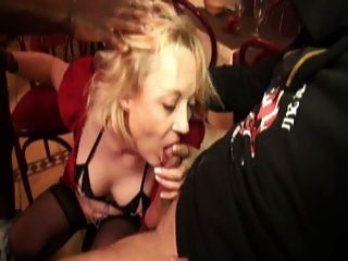 Gangbanging Christiana, A French Mature In Stockings