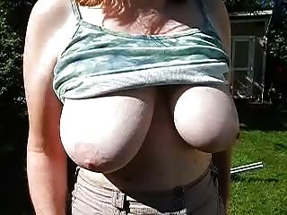 Wifes Saggy Tits Slow Motion Hangers Big And Juicy Nipples