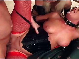 Ffm Anal Threeway With Babes In Fishnet And Latex