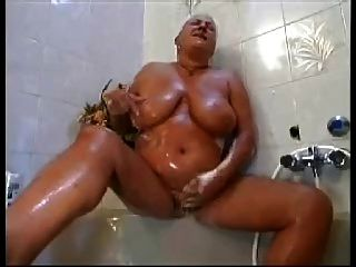 Ugly Granny With Flabby Saggy Tits & Body