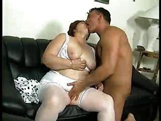 Bbw Fat Ass Granny Fucked On A Sofa