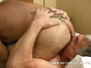 Hot Silverdaddy Fucks His Mature Lover