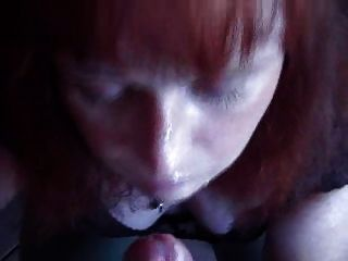 Amateur Milf Takes Facial At Restaurant